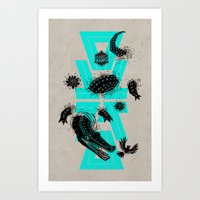 coco Art Prints featuring Coco by Andres Moncayo