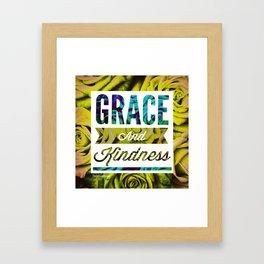 Grace + Kindness Framed Art Print