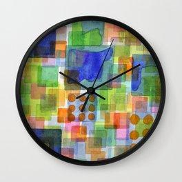 Playful Squares Wall Clock