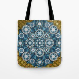 blue geometry  Tote Bag