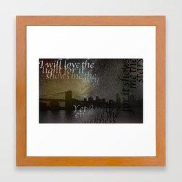 Shows Me The Stars Framed Art Print