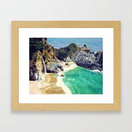 McWay Falls Big Sur California Framed Art Print