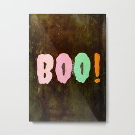 Boo #Halloween #spooky #fun Metal Print