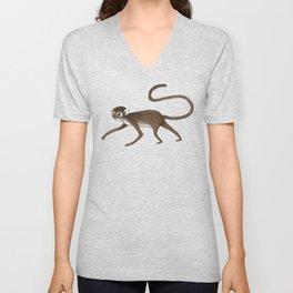 Squirrel Monkey Walking Unisex V-Neck