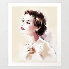 romantic woman Art Print