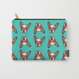 French Bulldog Superhero Textile Carry-All Pouch