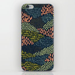 Dashes and dots // abstract pattern iPhone Skin