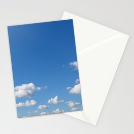 blue sky and clouds - blue sky with clouds Stationery Cards