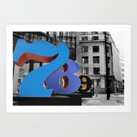 numbers Art Prints featuring Numbers by liberthine01
