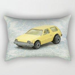 Yellow Hot Wheels Packin' Pacer 1977 Rectangular Pillow