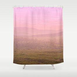 Pink Landscape - #society6 #buyart Shower Curtain