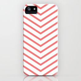 Red lines. Geometric design iPhone Case