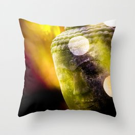 Head of Buddha Throw Pillow