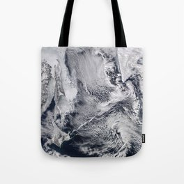 Sea Ice, Clouds in the Sea of Okhotsk Tote Bag