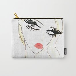 Red Lips Blondy Carry-All Pouch
