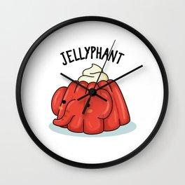 Jellyphant Cute Jello Elephant Pun Wall Clock