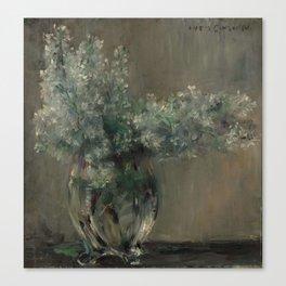 LOVIS CORINTH (Ostpreussen 1858 - 1925 Zandvoort) Still life with white lilacs. Canvas Print