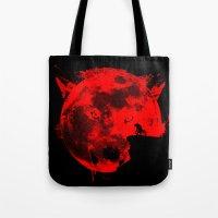 werewolf Tote Bags featuring Werewolf by Badamg