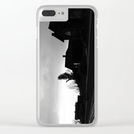 Silhouetted Stillness Clear iPhone Case