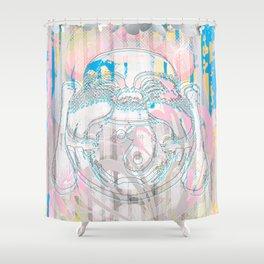 Buddha-Love & Butterfly Shower Curtain