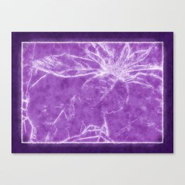Mottled Red Poinsettia 1 Ephemeral Outlined Purple Canvas Print