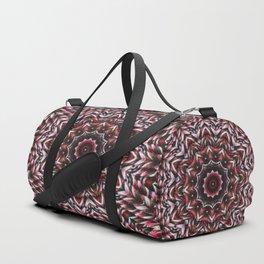 Red knit pattern kaleidoscope 3D Duffle Bag