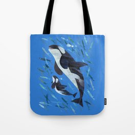 Killer Whale and Baby Tote Bag