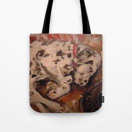 Fire Dog Tote Bag
