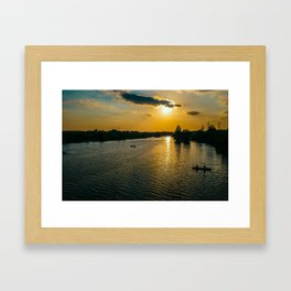 Sunset at Austin Townlake Framed Art Print