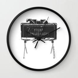 Claymore 'Front Toward Enemy' Wall Clock