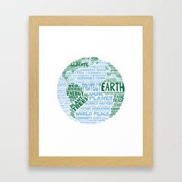 Protect Earth Word Bubble Framed Art Print