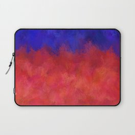 Red Pink Blue Color Explosion Abstract Laptop Sleeve