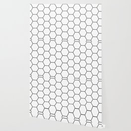 Minimalist Black and White Geometrical Pattern Wallpaper