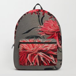 Red Flower Traditional Japanese Flora Backpack