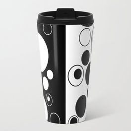 Reflections - Black and white geometric artwork Travel Mug