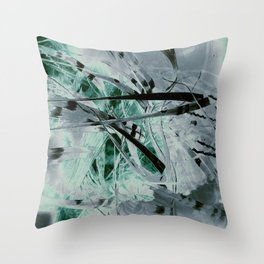 """""""Study Of Reed: Solarized 2"""" Throw Pillow"""