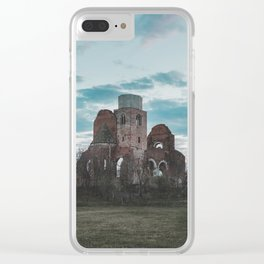 Medieval church Clear iPhone Case