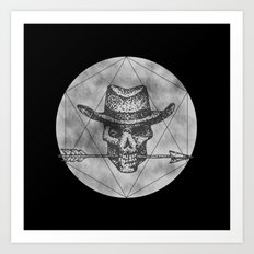 Dead Sheriff on dark Art Print