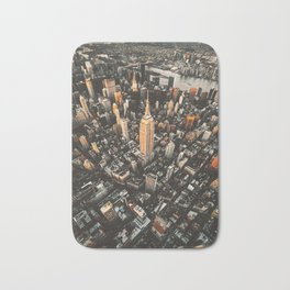 new york city aerial view Bath Mat