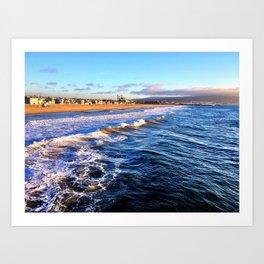 "Hermosa Beach ""On the Pier 2"" Art Print"