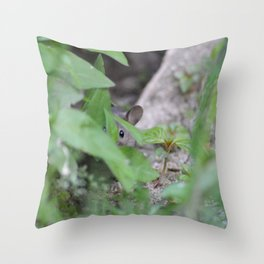 Peek-A-Boo, Mousie Throw Pillow