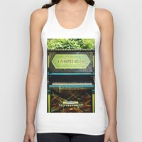 piano Tank Tops featuring Piano by lenomadecom