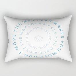 Move the way joy makes you move Rectangular Pillow