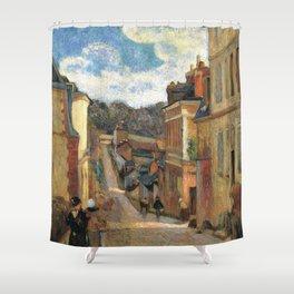 Paul Gauguin - La rue Jouvenet à Rouen (1884) Shower Curtain