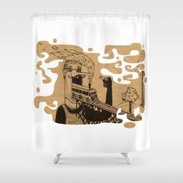 Train Mouth Mc Gregor Shower Curtain