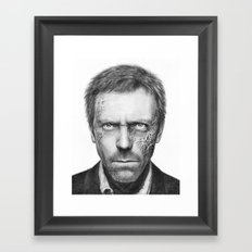 Hugh Laurie from House MD Doctor House Framed Art Print