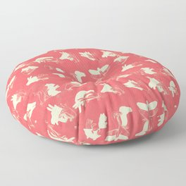 Coral Shadow Puppets Floor Pillow