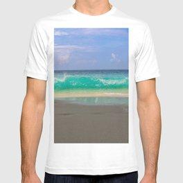 Blue Ocean Waves and White Sand Beach Bali T-shirt