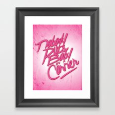 Nobody puts baby in a corner Framed Art Print