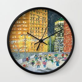Christmas on Woodward Avenue Wall Clock
